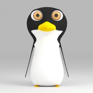 3d cartoon penguin rigged