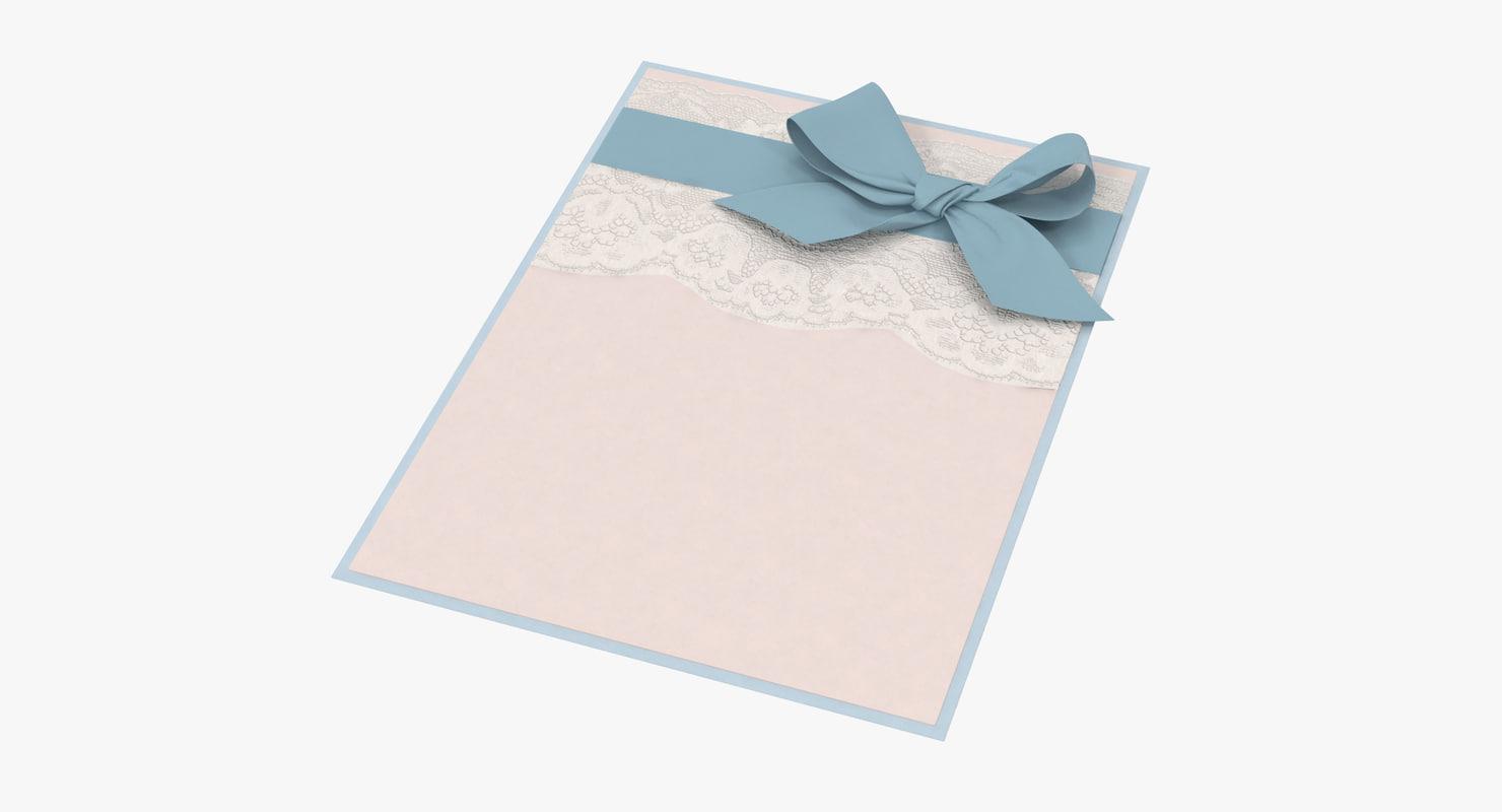 baby shower invitation blue 3d max