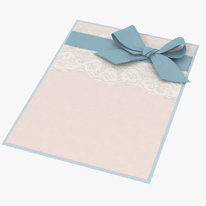 baby shower invitation blue 3d max