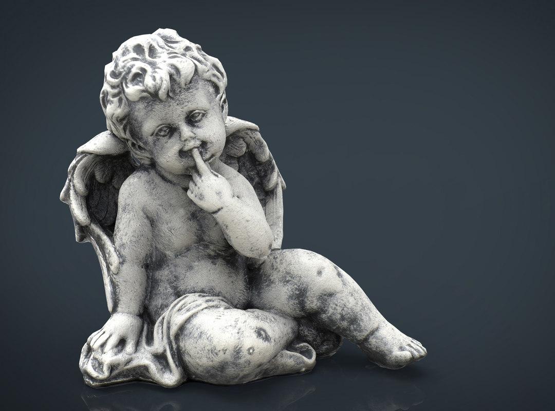 angel stone 3d model