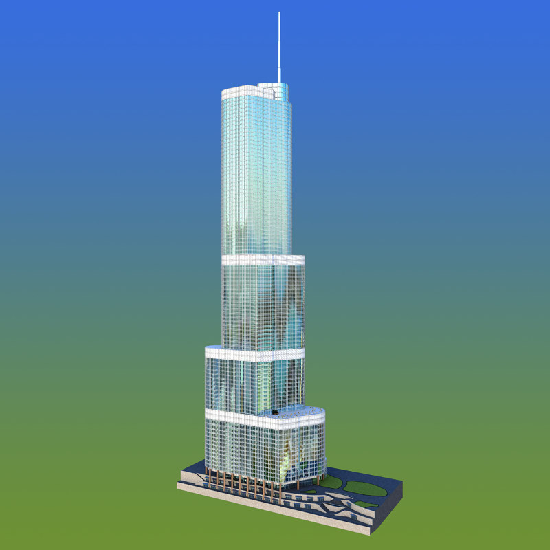 trump tower chicago 3d model