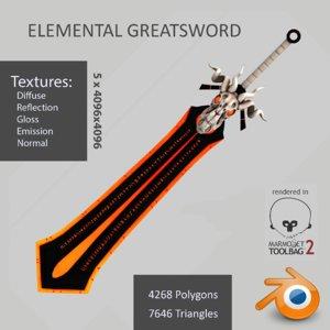 3d max elemental greatsword