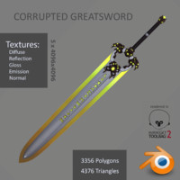3d corrupted greatsword model