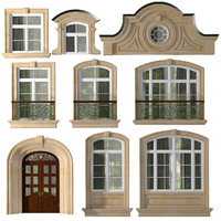 3d max doors windows style modern