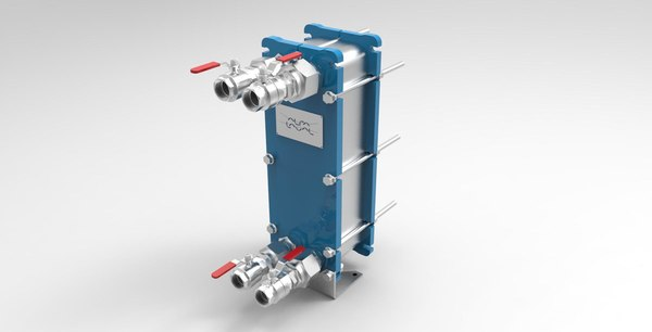 3d heat exchanger model