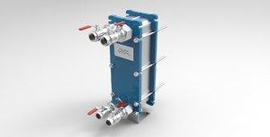 3d heat exchanger model
