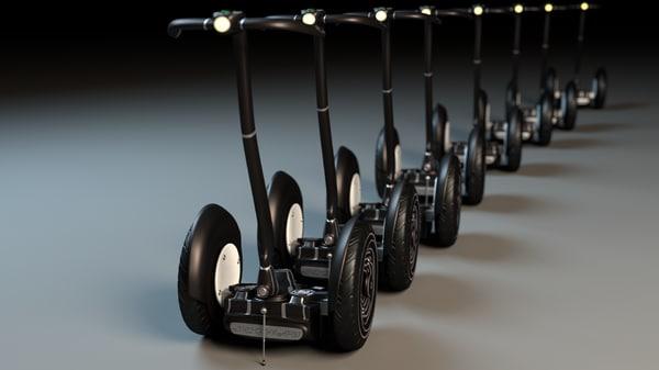 new design segway 3d model
