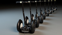 new design segway 3d model