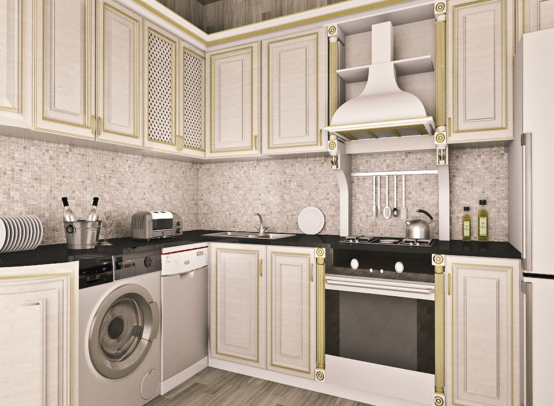 free kitchen furniture 3d model