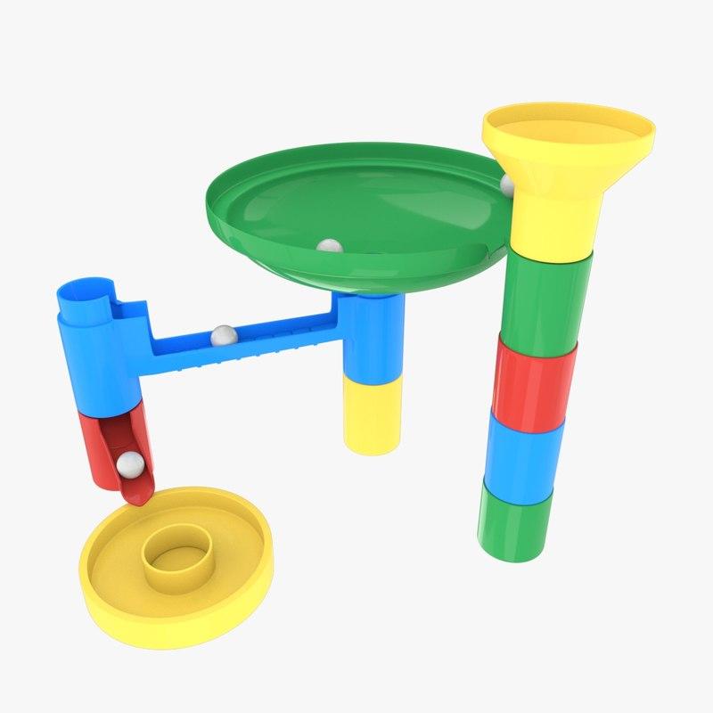 3d marble toys