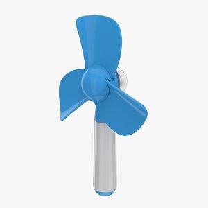 3d electric hand fan model