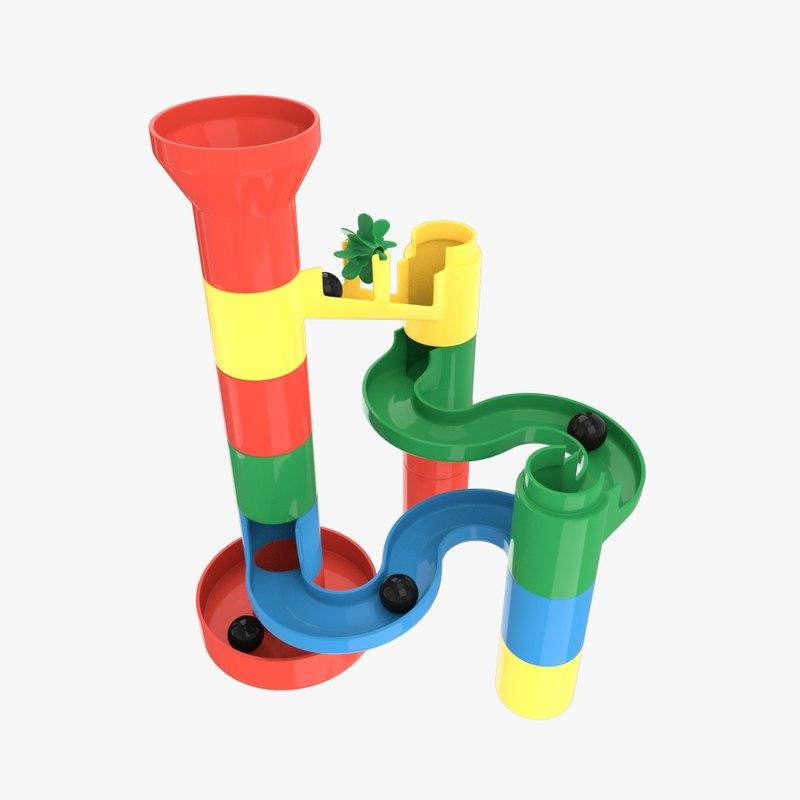 3d model marble toys