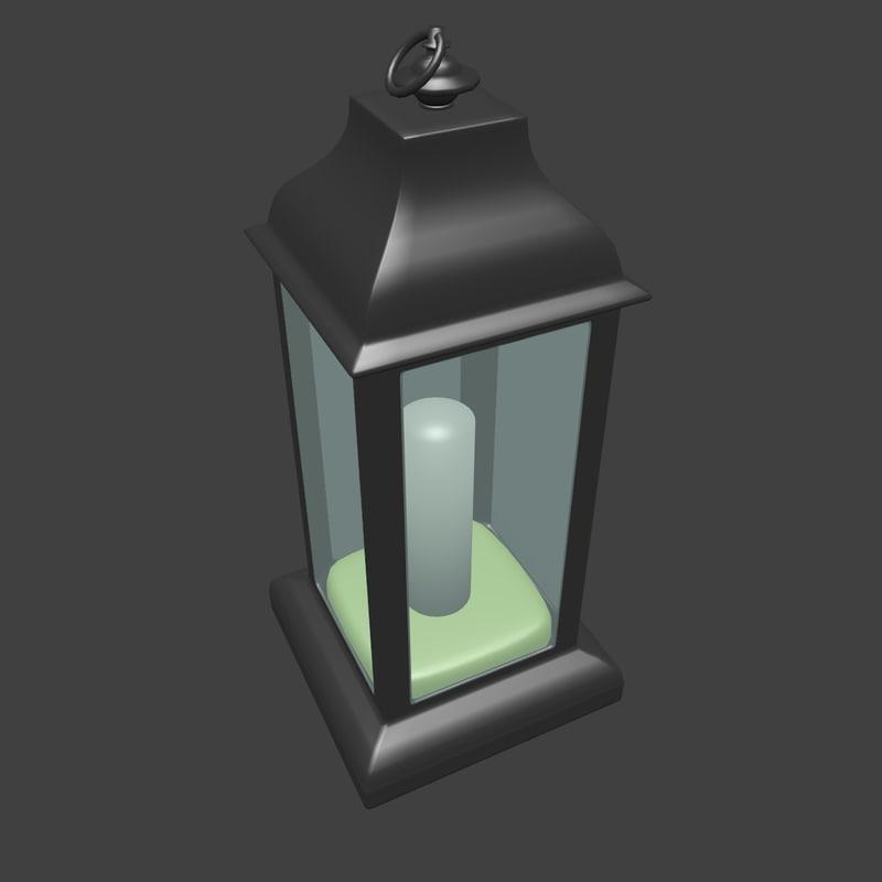 3d model lantern simple