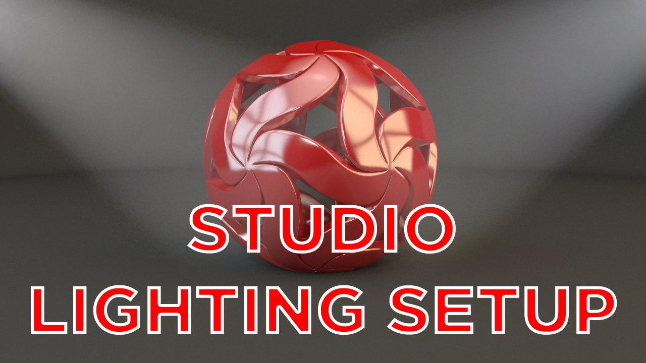 light studio setup object max