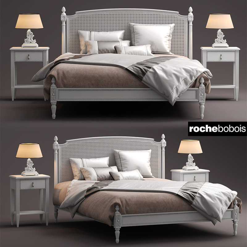 roche bobois lit 3d max. Black Bedroom Furniture Sets. Home Design Ideas