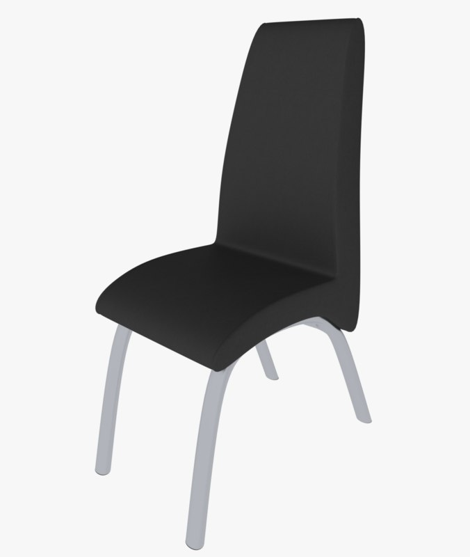 chair modern leather 3d model