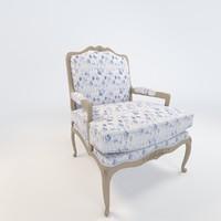 3d model pacha armchair chair