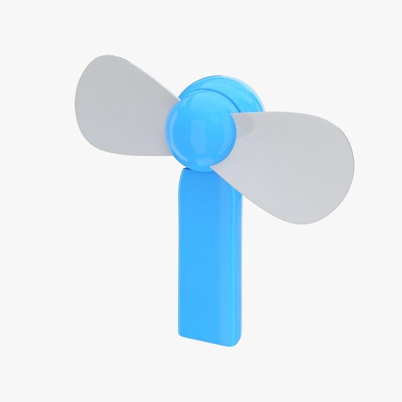 3ds electric hand fan