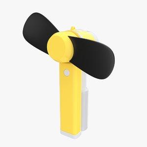 electric hand fan 3ds