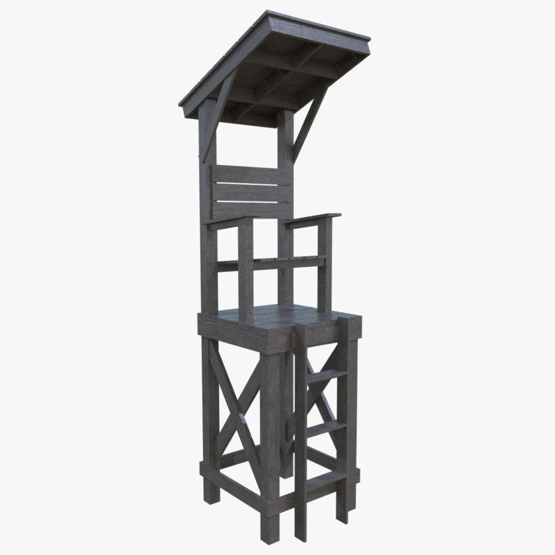 obj lifeguard tower