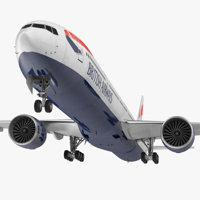 3d boeing 777-9x british airways model