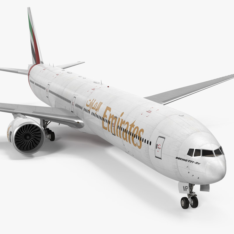 boeing 777-9x emirates airlines 3d 3ds