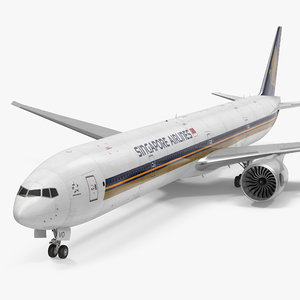 c4d boeing 777-9x singapore airlines