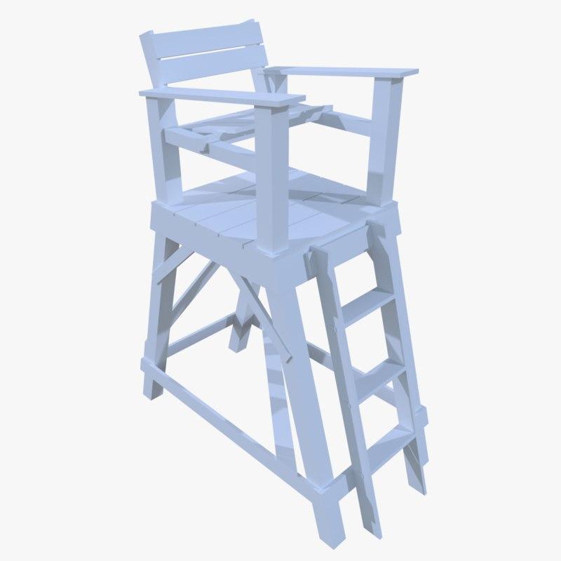 3d lifeguard tower model