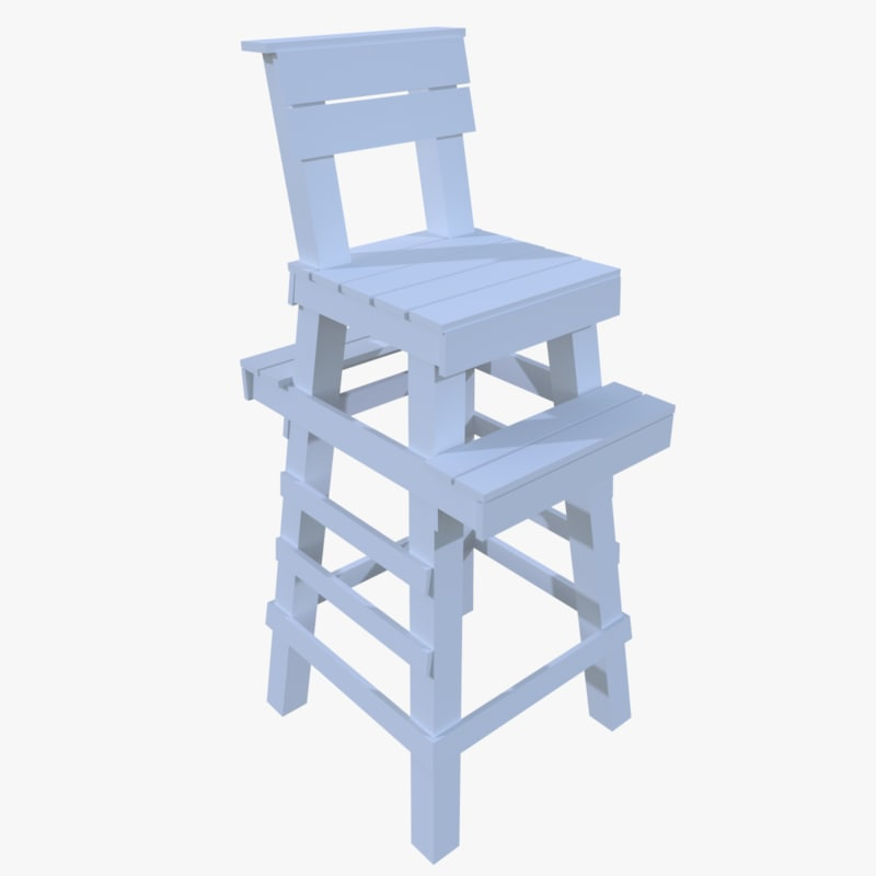 lifeguard tower 3d 3ds