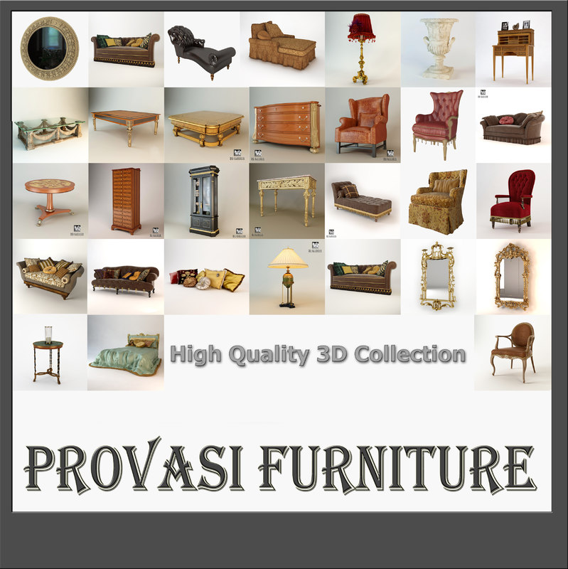 3d provasi furniture collected model