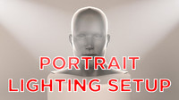3d portrait studio lighting