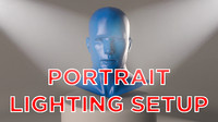 portrait studio lighting 2 3d model