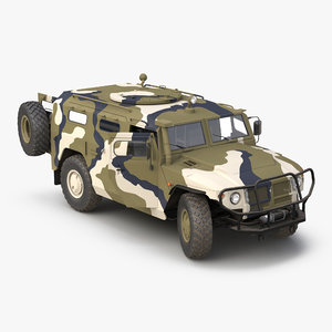 3d model infantry mobility vehicle gaz