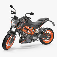 Motorcycle KTM Duke 390 2016 Rigged