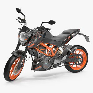 3d max motorcycle ktm duke 390