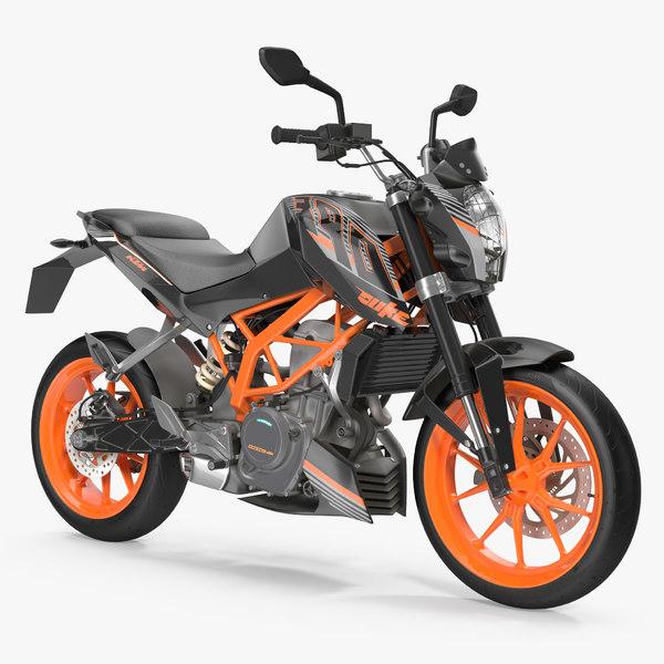3d model motorcycle ktm duke 390