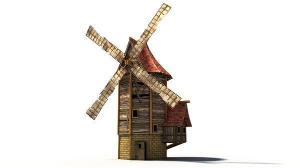 cartoon windmill max