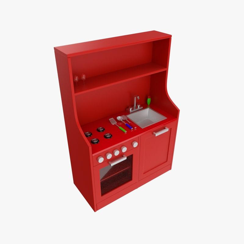 3d toy kitchen model