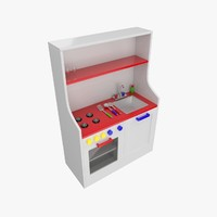3d toy kitchen model