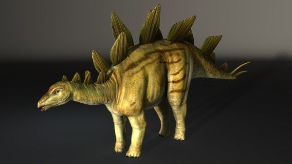 3d obj stegosaurus