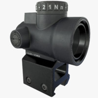 mro red dot sight 3d max