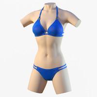 bikini mannequin 3d model