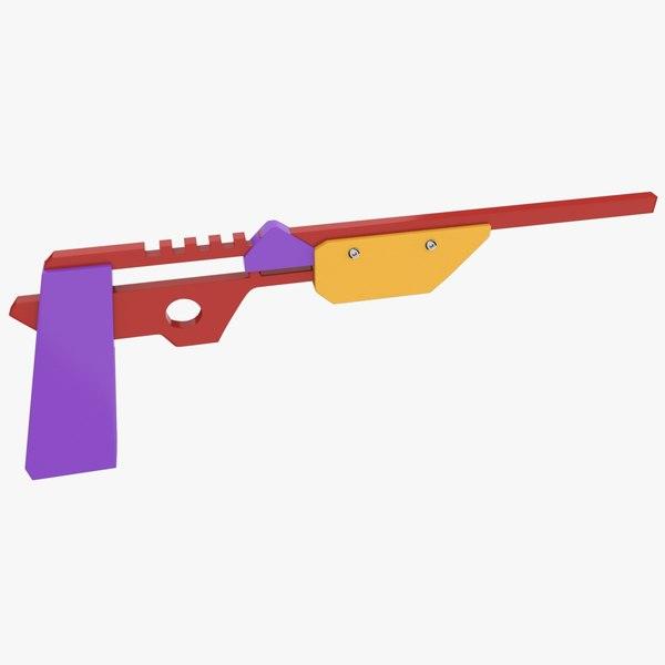 3d 3ds rubber band gun
