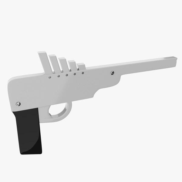 rubber band gun obj