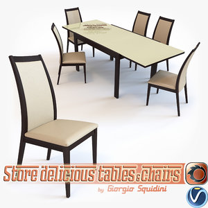 chair table olivo godeassi 3d model