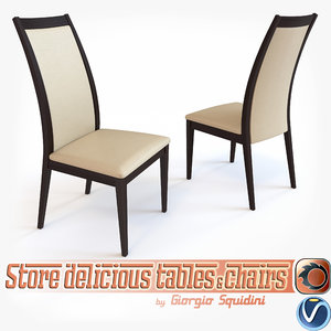 3d model of chair olivo godeassi cortina