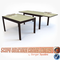 table olivo godeassi new 3d 3ds