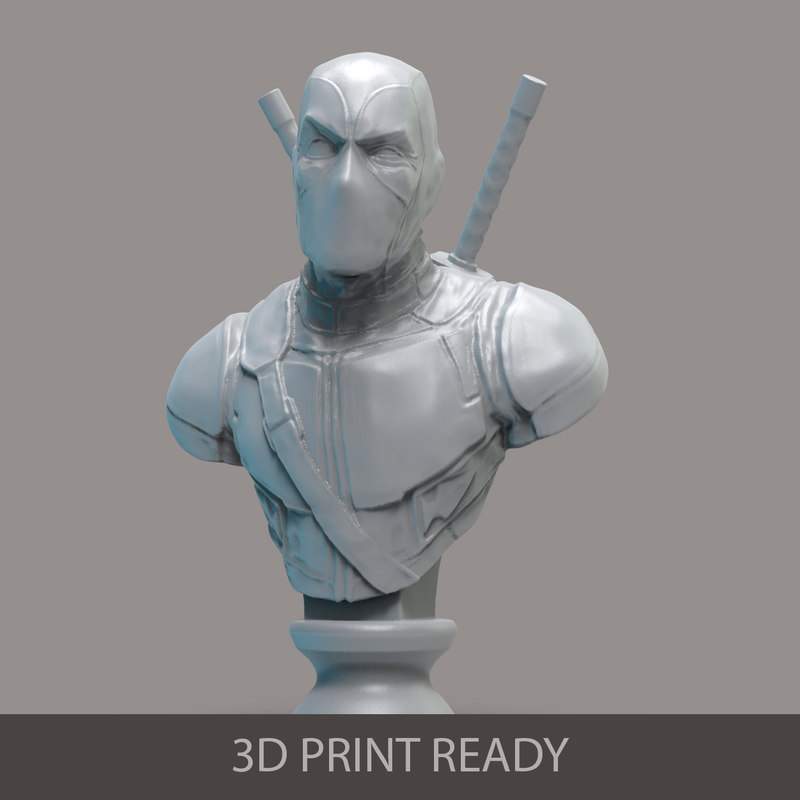 3d deadpool bust