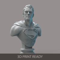 superman bust printing max