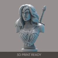 woman bust printing fbx